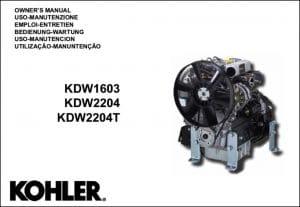 Kohler KDW 1603 diesel engine Owners Manual