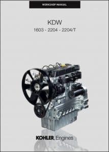 Kohler KDW 1603 diesel engine Workshop Manual