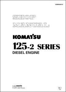 Komatsu 125-2 diesel engine Shop Manual