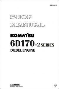 Komatsu 6D170E-2 diesel engine Shop Manual