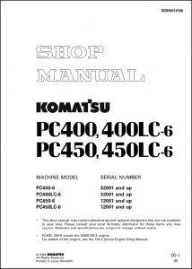 Komatsu PC400 diesel engine Shop Manual