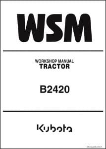 Kubota Diesel Engine B2420 Workshop Manual