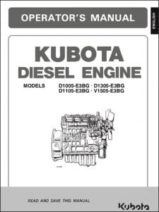 Kubota Diesel Engine D1005-E3BG Operator Manual