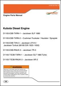 Kubota Diesel Engine D1105-E3B Parts List