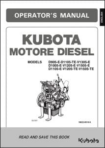 Kubota Diesel Engine D905 Operator Manual