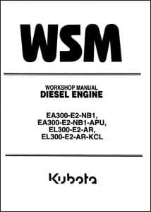Kubota Diesel Engine EA300 Workshop Manual