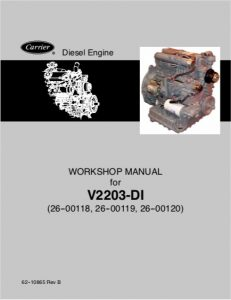 Kubota V2203 Diesel Engine Workshop Manual