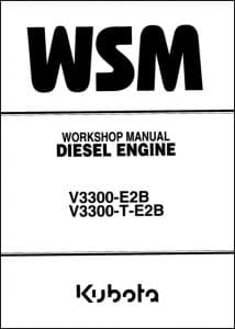 Kubota V3300 Diesel Engine Workshop Manual