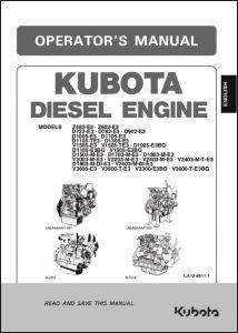 Kubota Z482-E3 diesel engine Operators Manual