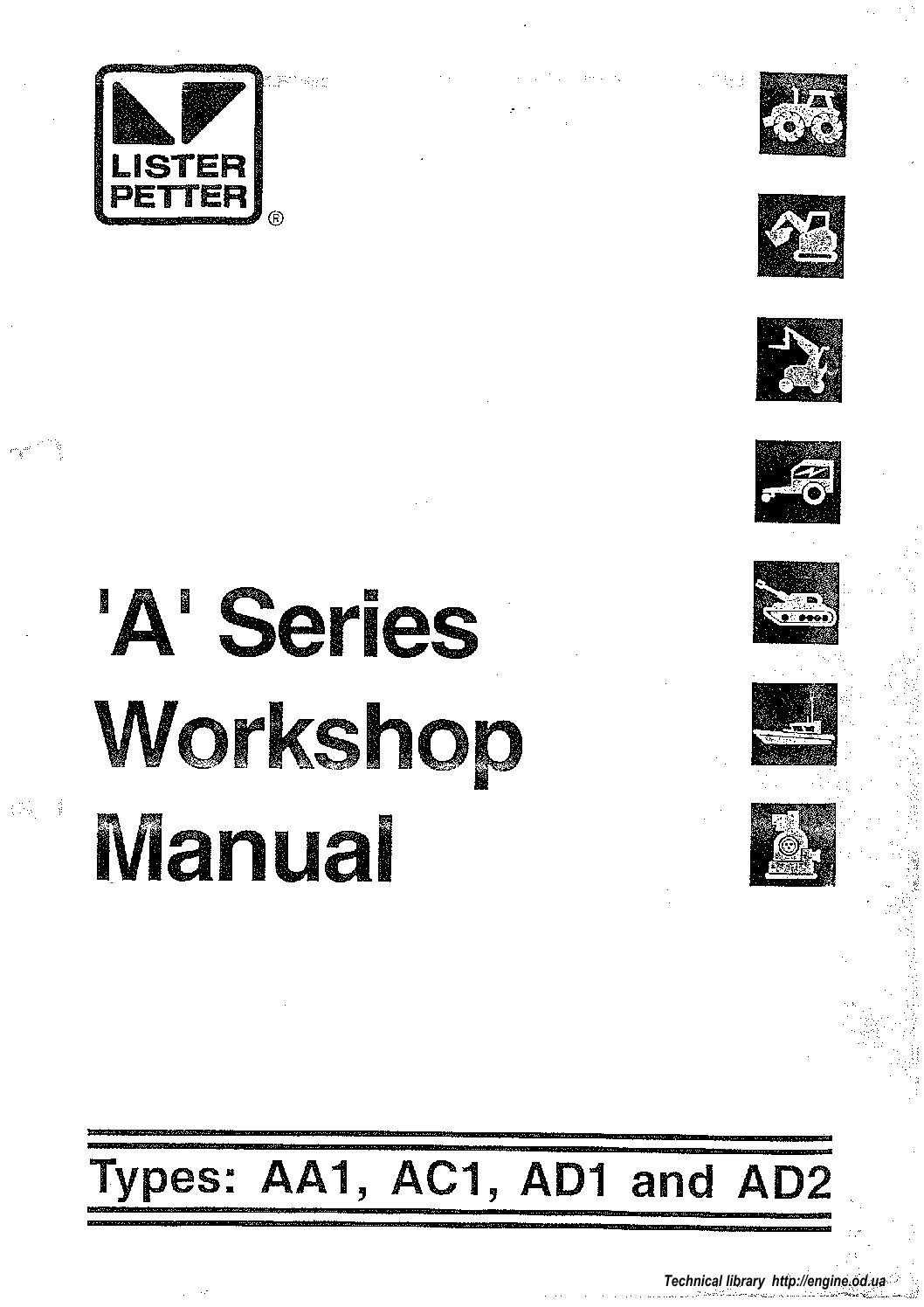 Motor Diesel Lister Petter Serie A Manual De Taller