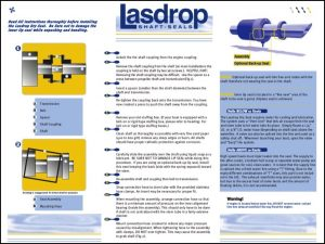 Lasdrop shaft seal Installation Instructions