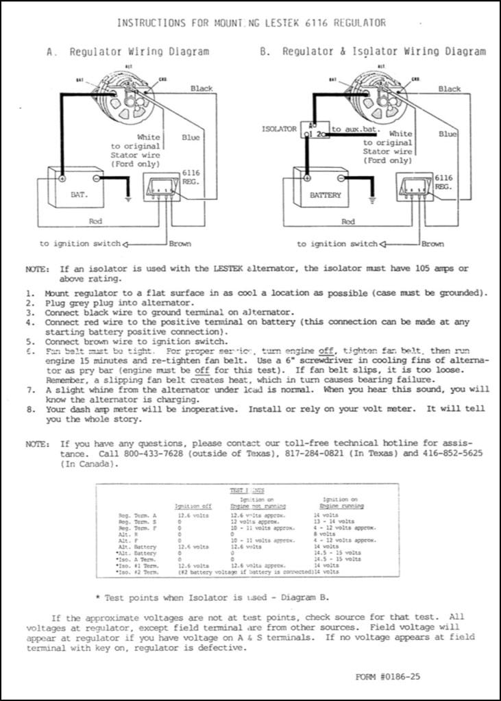 Lestek 6116 Voltage Regulator Marine Diesel Basics