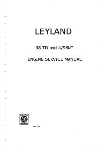 Leyland 38 TD diesel engine Service Manual