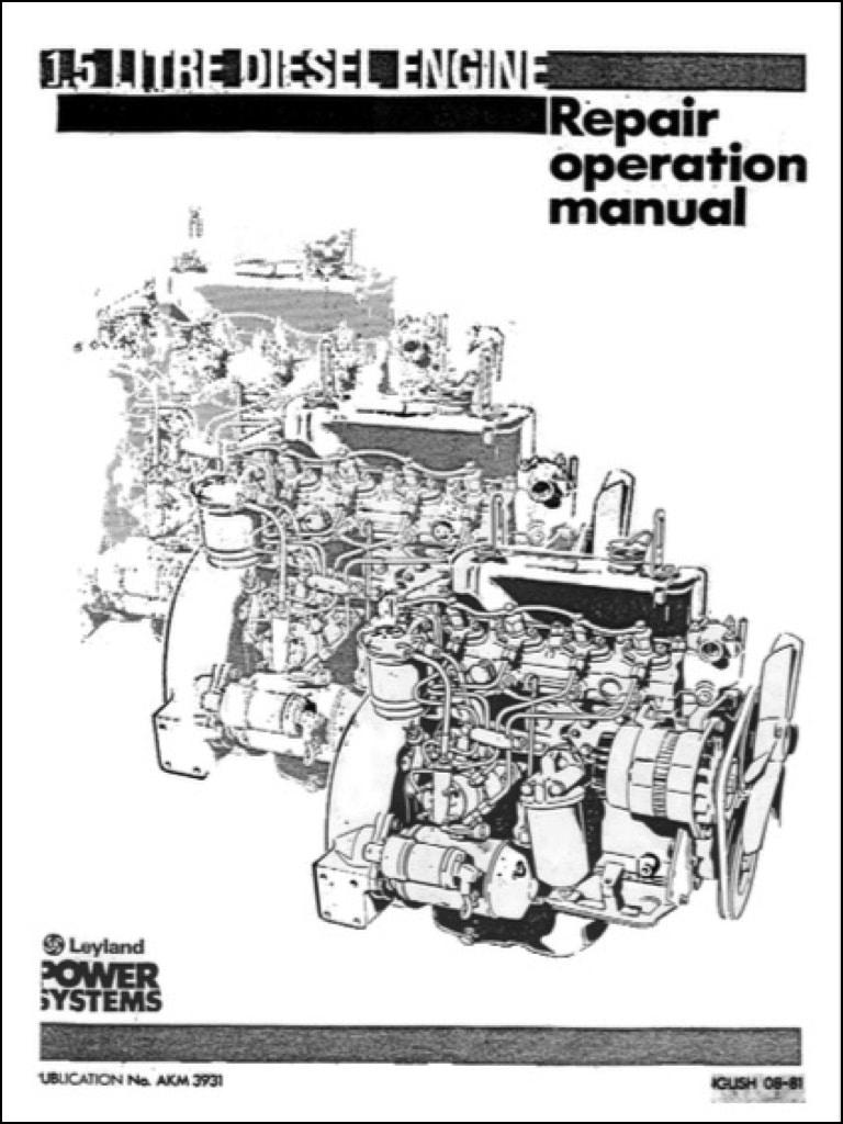 Leyland 50D Diesel Engine Repair operation manual