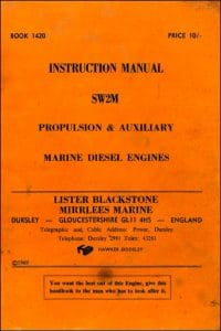 Lister Blackstone SW2M Diesel Engine Operation Manual