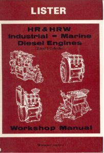 Lister HR diesel engine Workshop manual cover