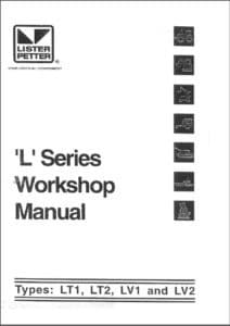 Lister LT1 diesel engine Workshop cover