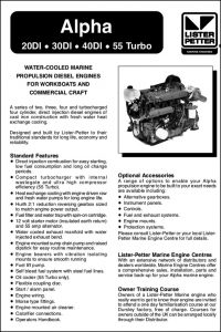 Lister Petter Alpha Series 20di Diesel Engine Information Sheet
