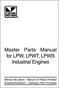 Lister Petter LPW Diesel Engine Parts Manual