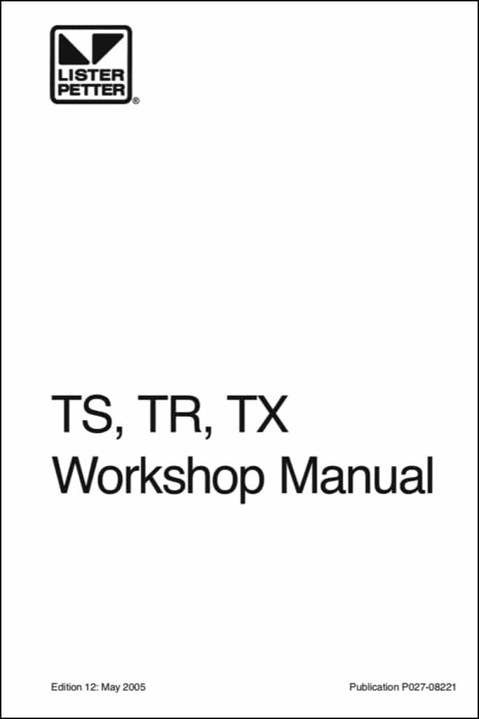 Lister Petter TS Diesel Engine Workshop Manual
