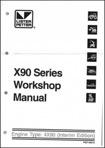 Lister Petter X90 Series Diesel Engine Workshop Manual