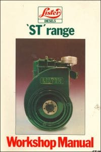 Lister diesel engine ST, STW Workshop Manual