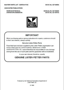 ListerPetter HR2 Parts cover