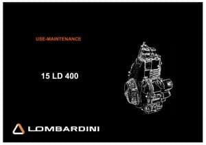 Lombardini 15 LD 400 diesel engine Workshop Manual