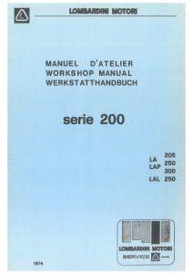 Lombardini 200 Series diesel engine Workshop Manual