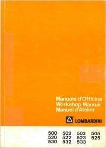 Lombardini 500 diesel engine Workshop manual