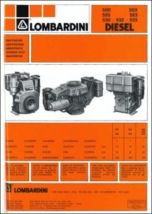 Lombardini 6 LD 500 diesel engine Owner Manual