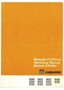 Lombardini 6 LD 500 diesel engine Workshop Manual