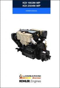 Lombardini Kohler KDI 1903M-MP Owner Manual