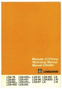 Lombardini LDA 75 etc diesel engine Workshop Manual