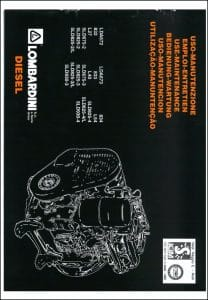 Lombardini LDA672 etc diesel engines Use and Maintenance Manual