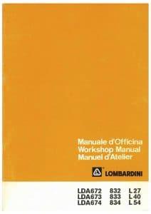Lombardini LDA672 etc diesel engine Workshop Manual