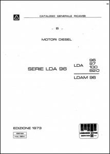 Lombardini LDA96 Series Diesel Engine Parts Catalogue