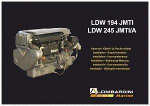 Lombardini LDW 194 JMTI diesel engine Installation & Use Manual