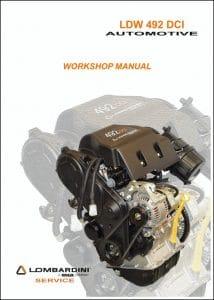Lombardini LDW 492 DCI diesel engine Workshop Manual
