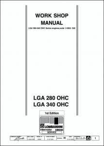 Lombardini LGA 280 OHC Series diesel engine Workshop Manual