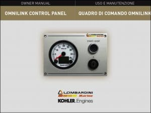 Lombardini Omnilink Control Panel Owner Manual