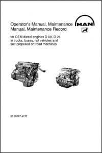 MAN D08 Series diesel engine Operators Manual and Maintenance Manual