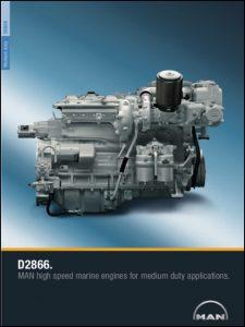MAN D2866 diesel engine