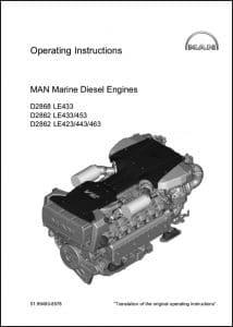 MAN D2866 LE 433 Marine Diesel Engine Operating