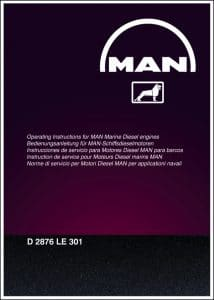 MAN D2876 LE 301 diesel engine Operating Instructions