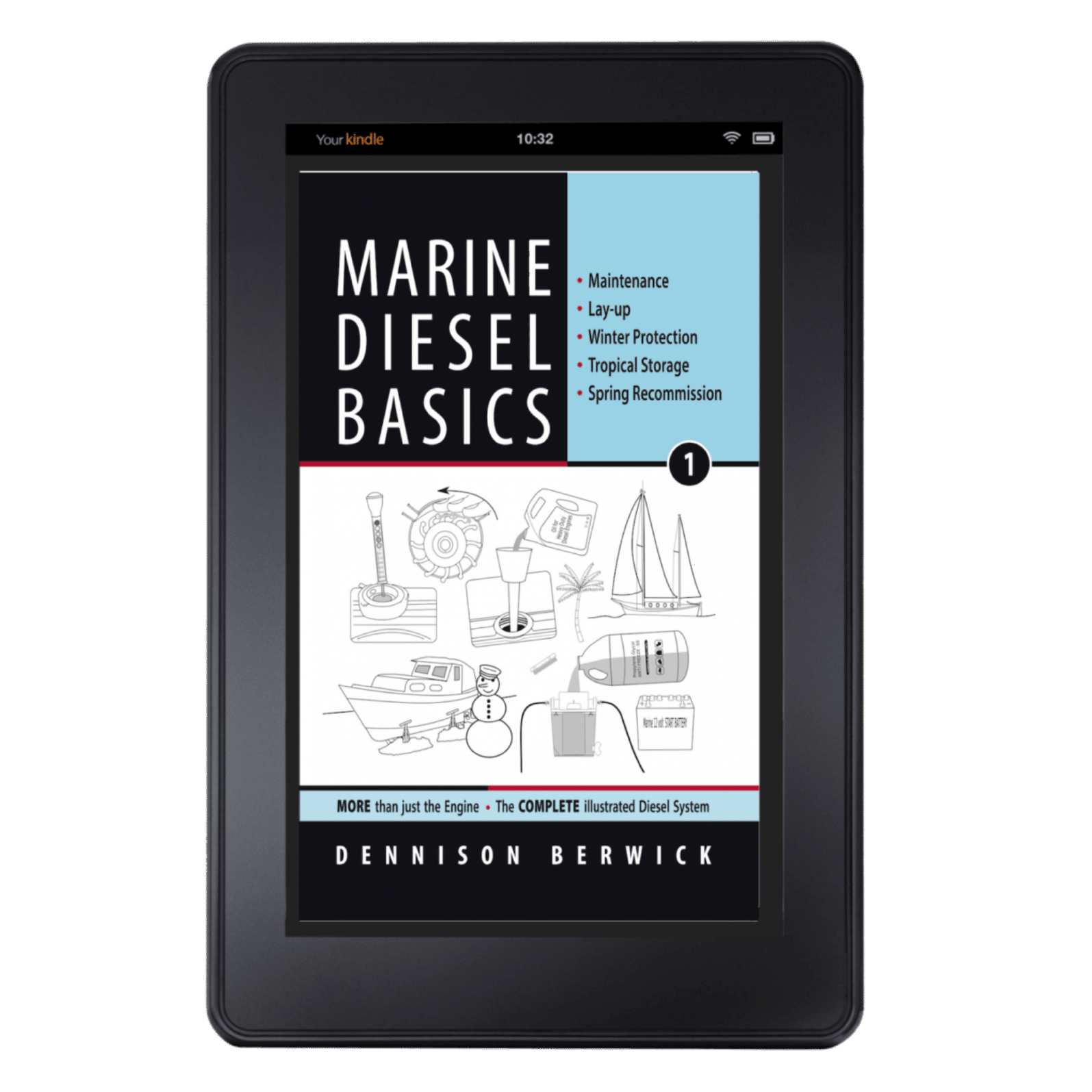 cover of Marine Diesel Basics 1 on Kindle mock-up