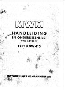 MWM KDW415 diesel engine Operator Manual Dutch