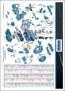 MWM Motores Série 10 diesel engines exploded view & parts