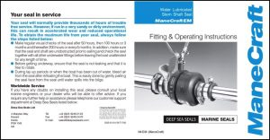 Manecraft EM shaft seal Fitting & Operating Instructions