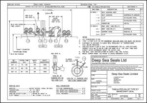 Manecraft EY Shaft Seal Drawing 1995